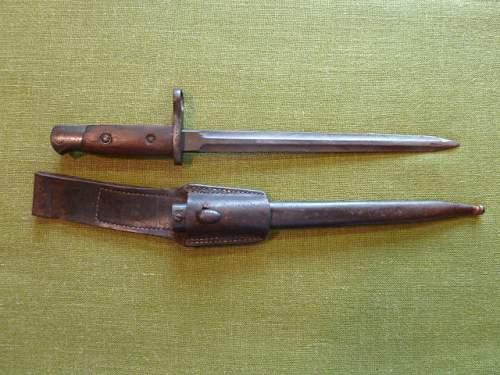 German-modified Belgian Model 1916/24 bayonet