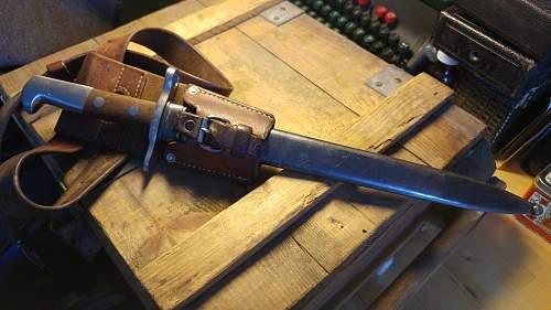 Swiss K31 bayonet, from 1941?