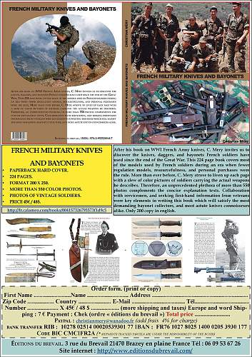 Click image for larger version.  Name:Publicité livre French Military Knives and Bayonets version anglaise 08 02 2016 SITE.jpg Views:101 Size:226.4 KB ID:977010
