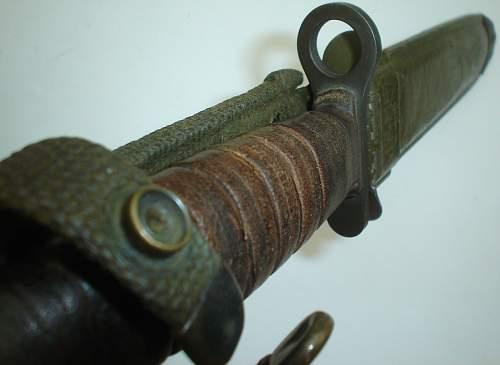 Odd U.S. M4 bayonet