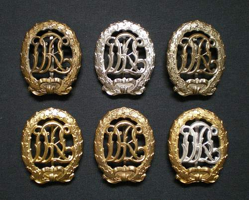 Post-war DRL Reichssportabzeichen