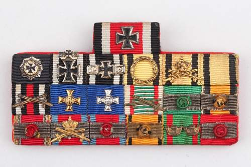 "My small Bundeswehr ""57 Style"" ribbon bar collection"