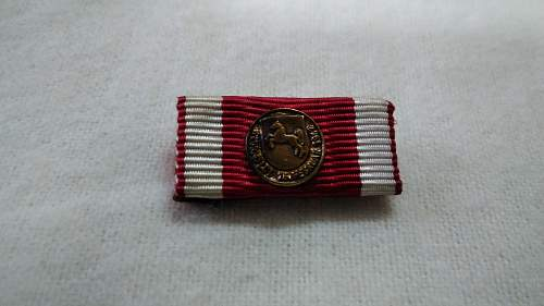 My ribbon bar collection of german medals for floods and rescue