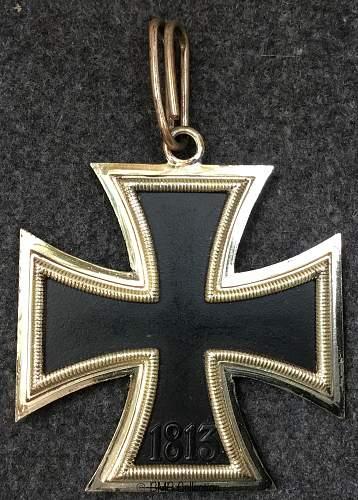 Ritterkreuz des Eisernen Kreuzes, early C frame and B core.
