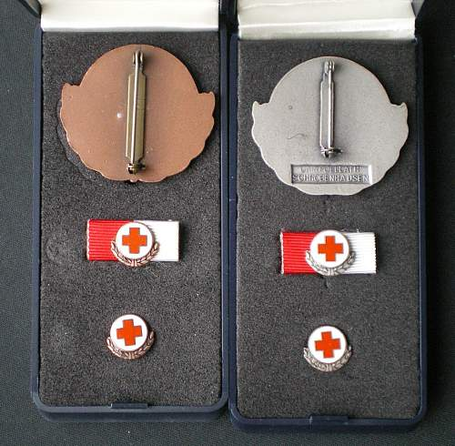 Red Cross decorations and badges
