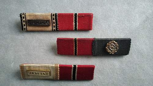"""My small Bundeswehr """"57 Style"""" ribbon bar collection"""