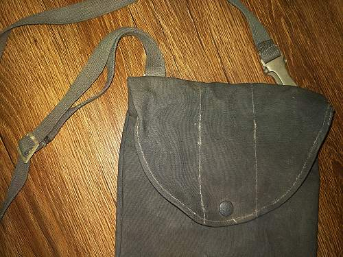 West or east german unknown canvas gas mask bag