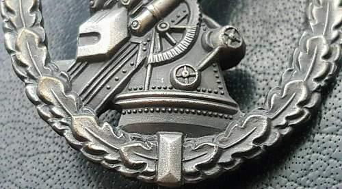 1957 Luftwaffe flak badge.!!!