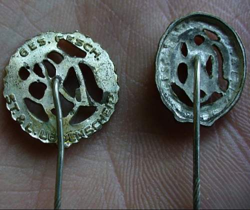 Sport Badge stick pins