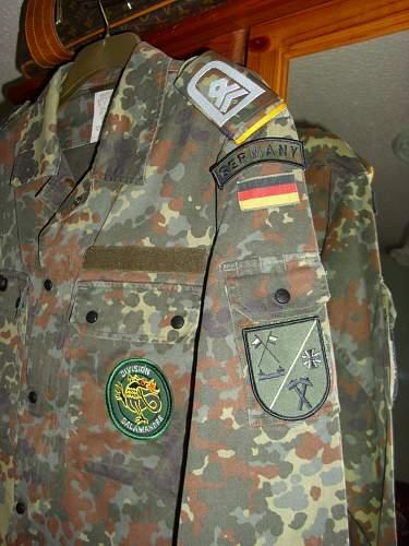 Bundeswehr combat uniforms.