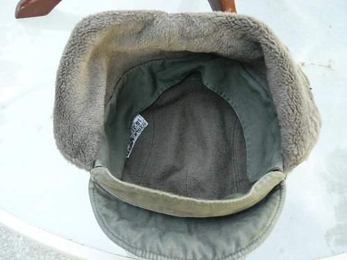 Bundeswehr winter cap and suspenders