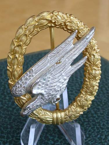 57er Army Paratrooper badge.