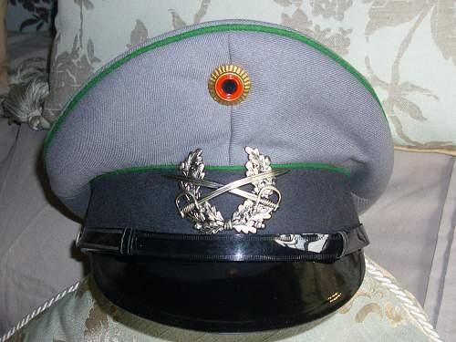 Bundeswehr peaked caps.