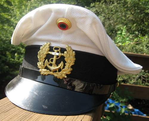post war German navy visor cap