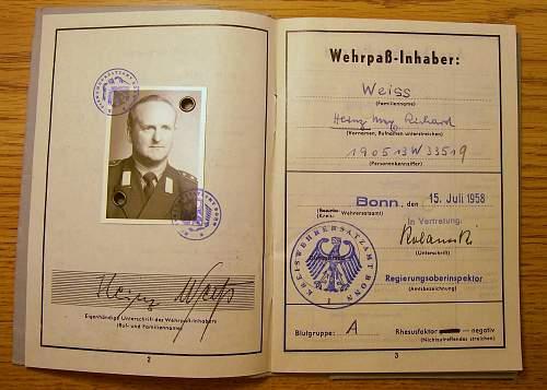 Bundeswehr  wehrpass