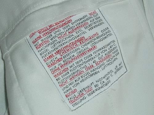 """The """"Casinojacke"""" BW White summer tunics."""