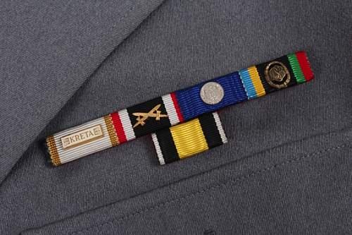 New uniform, WW2  Vet, Including 57er bar, KRETA.