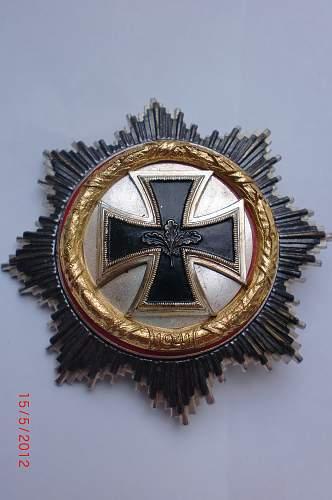 57er Deutsches Kreuz in Gold