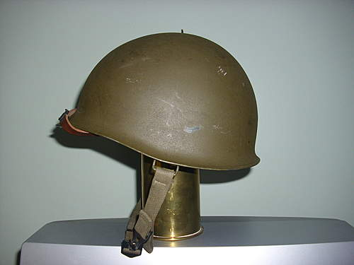 """The Holy Grail...an M56 """"Zweiteilige"""" steel helmet."""