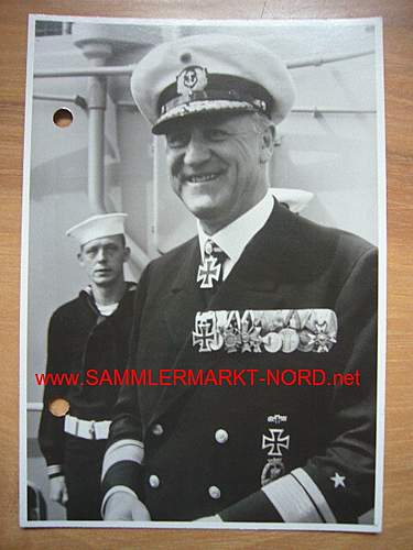 Konteradmiral Bernhard Rogge with full array of 1957 decorations.
