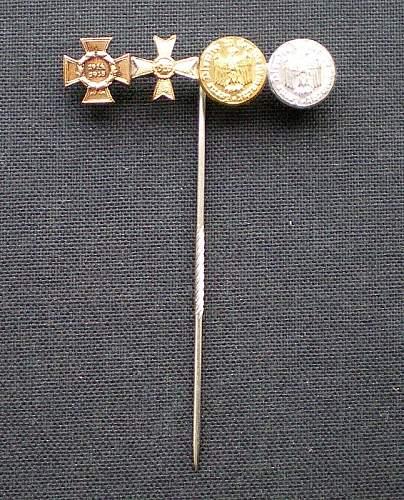 1957-ers: Stickpin for a WW1/WW2 veteran and KVK1 mit Schwertern
