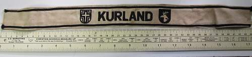 "Kurland ""Courland"" Norway Campaign Cuff Title"