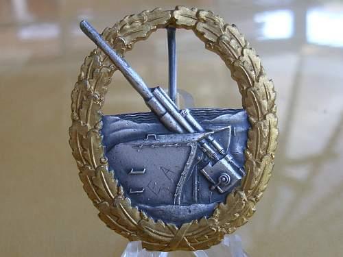 57er Destroyer & Marine Artillery badges.......