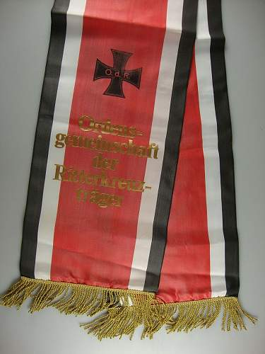 OdR RK holders Funeral wreath sashes........