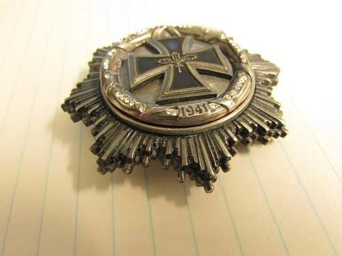 iron cross breast badge