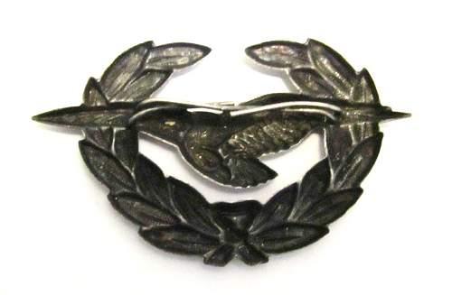 Austrian Bundesheer Luftwaffe cap badge