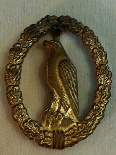 1957 German Luftwaffe Retired Pilots Badge
