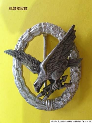 Luftwaffe Air Gunners Badge