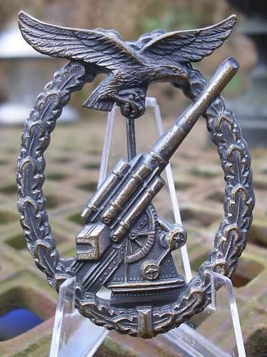 1957 LW Flak badges............