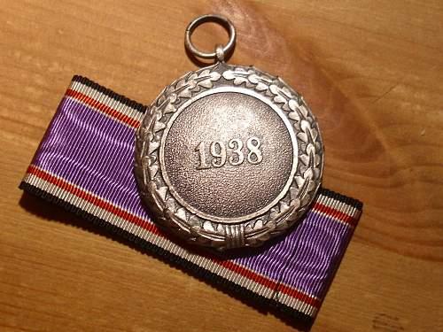 57er 2nd class Luftschutz medal.............