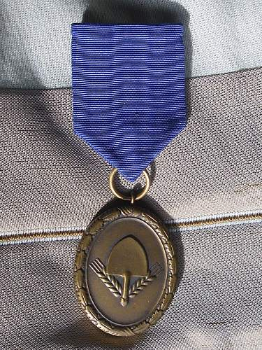 57er Mens RAD 4th class medal.............