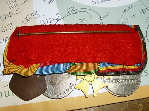 Marching medals of a BRD citizen................