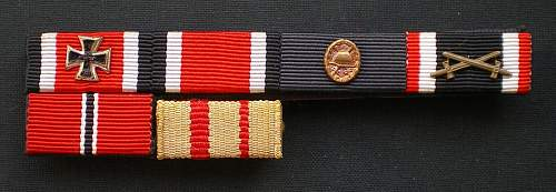 "1957er ribbon bar with Red Cross ""add-on"""