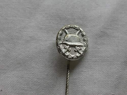 ss inscribed swb stick pin
