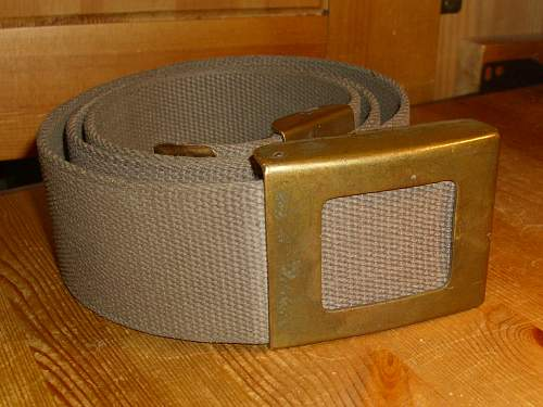 BW early olive open faced belt & buckle...........