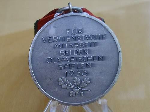 57er Deutsche Olympia-Erinnerungsmedaille.