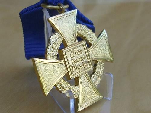57er Faithful Service Cross for 40years.........