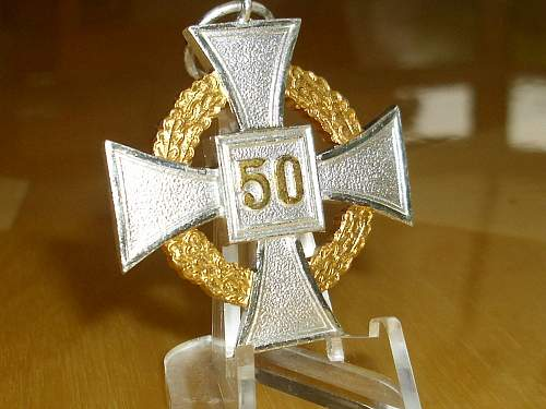 57er Public sector 50 year Faithful service Cross..............