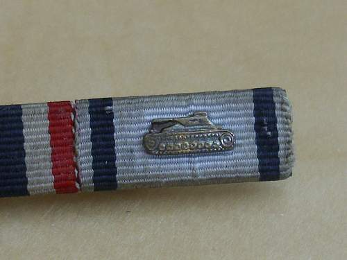 57er Tank destruction badge ribbon bar...............