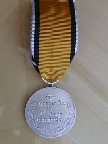 57er Mine Rescue Medal (Grubenwehr Ehrenzeichen)