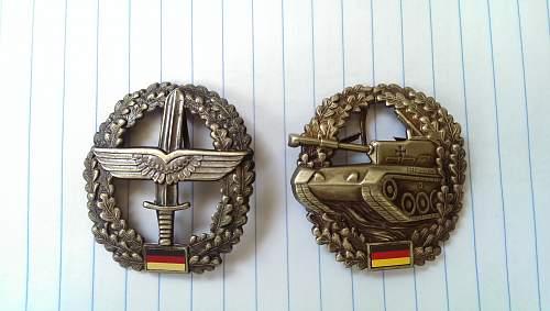 Bundeswehr cap badges