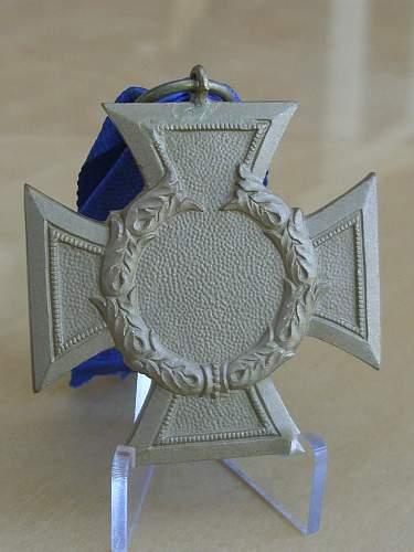 57er Zollgrenzschutz Ehrenzeichen medal.
