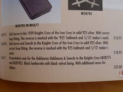 "Fake 1957 Knights Cross ""The Morigi Fake""."