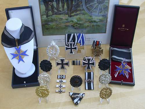 Replacement award display to commemorate WW1........