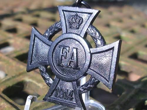 Post war Oldenburg Friedrich August Cross, II class..........