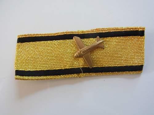 Post war aircraft destruction badge in Gold.....................